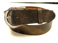 Harley-Davidson Leather Belt with Vintage Buckle 97774-17vm Rick `S Orig