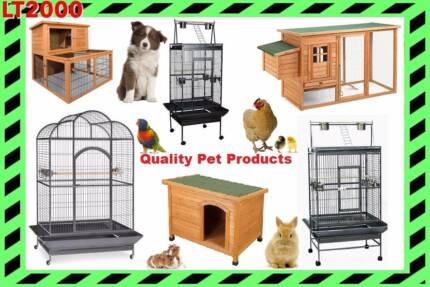 Rabbit Hutch, Chicken Coop, Dog Kennel, and Bird Cages