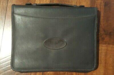 No Logo Leeds Zippered Padfolio 3 Ring Notebook Binder Organizer Pockets Handle