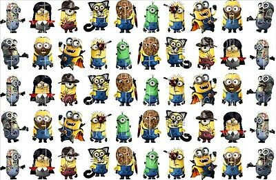 50 HALLOWEEN MINIONS DESPICABLE ME NAIL ART WATER TRANSFERS PARTY FAVORS #3