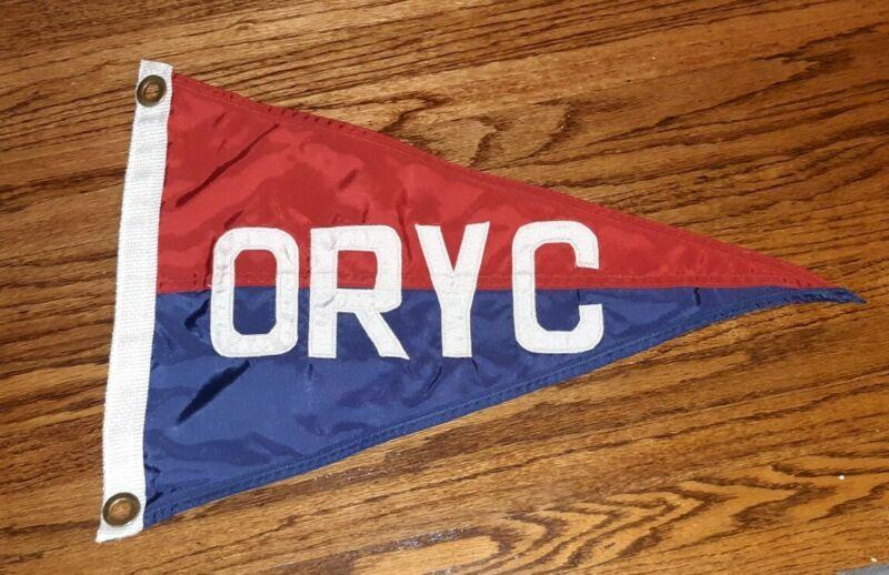 ORYC OTTAWA RIVER YACHT CLUB Nylon Buntings Boat Pennant Flag BURGEE TOLEDO OHIO