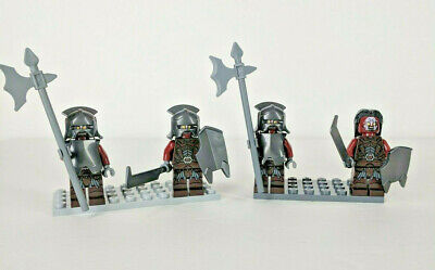 LEGO Lot 4 Lord of the Rings~Uruk Hai Army Warrior Minifigures Shields~9471