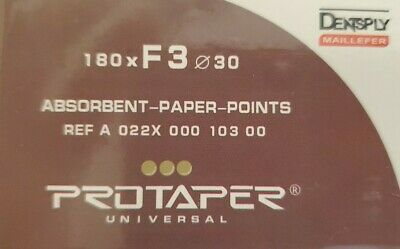 Protaper Universal F3 Absorbent Paper Points Dentsply Tulsa Dental Root Canal