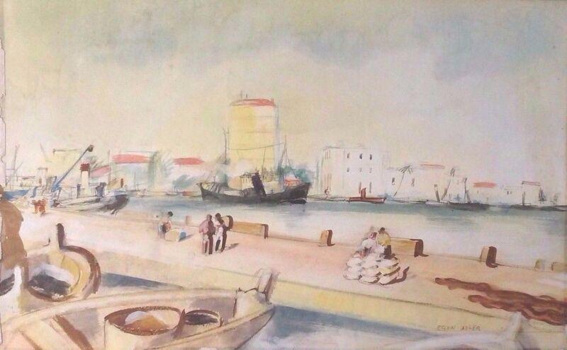 Original Egon Adler (1892-1963) W/c  Early German Expressionist Movement