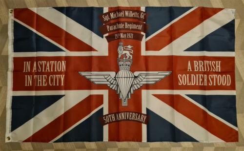 Sergeant Michael Willetts GC 50th Anniversary Flag Army British GB UK