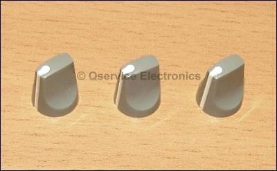 3 Pc Tektronix 366-1163-00 Knob Gray With White Pointer 7000 Serie Oscilloscopes