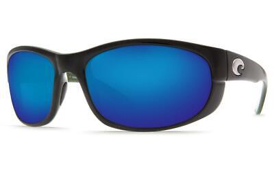 c8282cabd2 New Costa del Mar Howler Polarized Sunglasses Black Blue Mirror 400G Glass