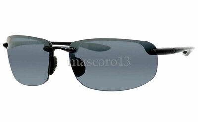 Maui Jim HOOKIPA Sport Sunglasses 407-02 Gloss Black polarized lenses