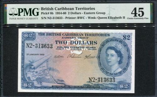 British Caribbean Territories 1953-1964 ( 1959 ), 2 Dollars, P8b, PMF 45 EF