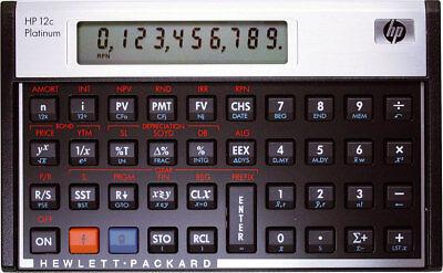HP-12 C Platinum Hewlett Packard Finanzrechner Algebraische Eingabelogik NEU OVP