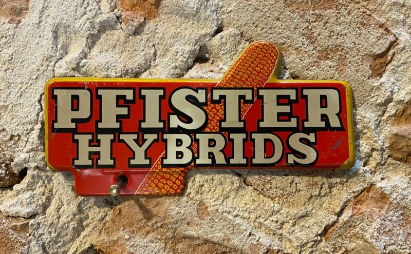 Pfister Hybrid Seed Corn License Plate Topper Sign