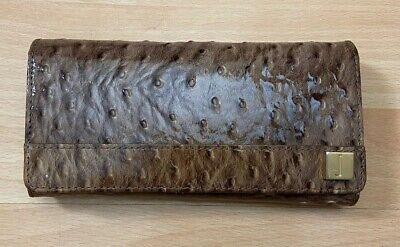 Jasper Conran Clutch Wallet Purse 100% Leather  Crocs Embossed Pattern Pre-Owned