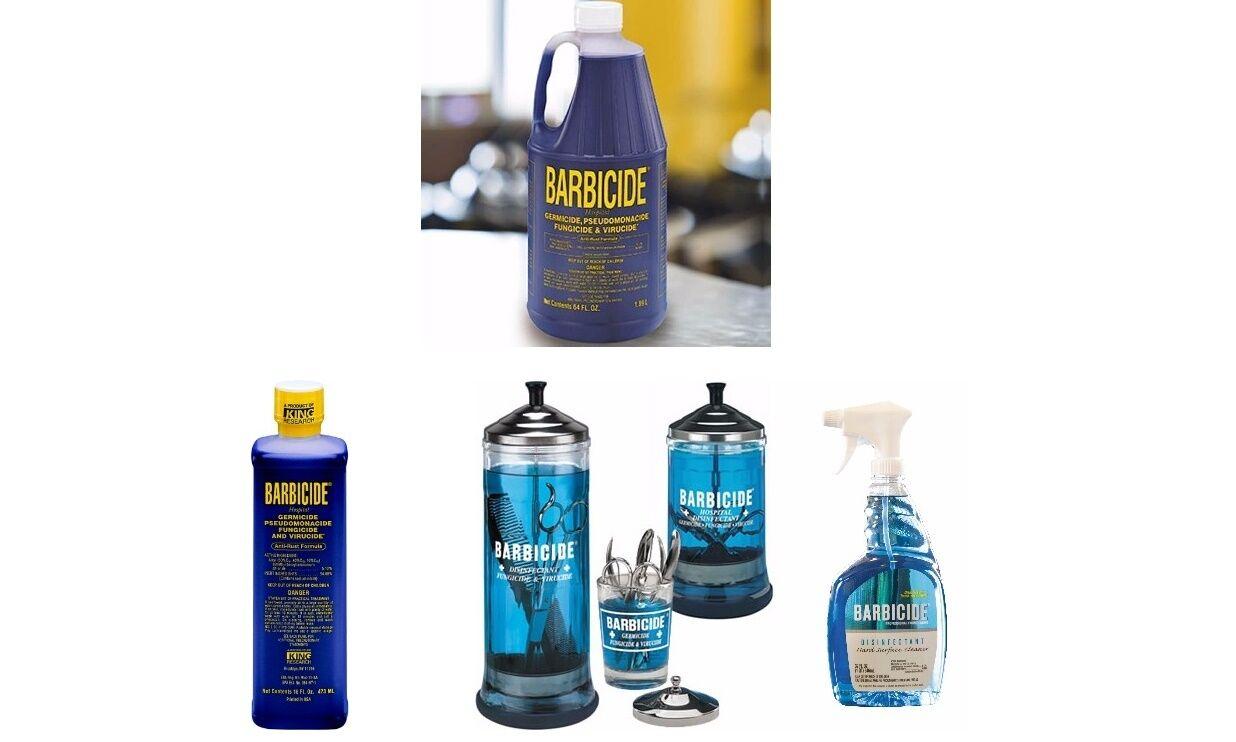 Details about Barbicide Disinfectant Concentrate Solution, Glass Jar &  Spray MULTI LIST