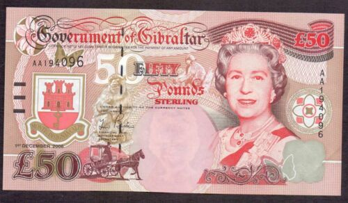 Gibraltar 50 pounds, Winston Churchill, UNC