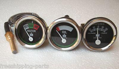 Oil Temp Amp Gauge Fits Ihfarmall H I4i6i9 Mo4os4o6os6 Td6w6 W9wd9