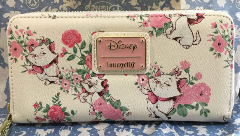 Disney Loungefly The Aristocats Marie Pink Floral Wallet, New With Tags