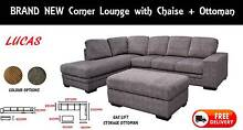 BRAND NEW Lounge Suite 3 Seater Sofa - Chaise & Ottoman DELIVERED New Farm Brisbane North East Preview