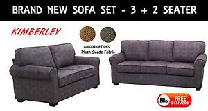 BRAND NEW Lounge Suite PLUSH SUEDE 3 + 2 Seater DELIVERED FREE New Farm Brisbane North East Preview