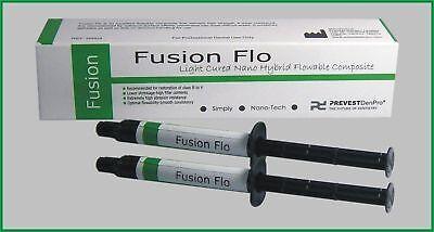 Prevest Denpro Light Cure Nano Flowable Composite Fusion Flo Kit 2 X 2gm