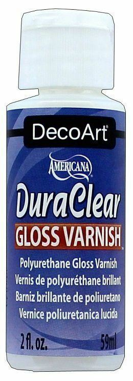 DecoArt DuraClear Poly Varnish Gloss Clear Finish 2oz