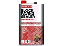 Resiblock Superior Matt, Paving Driveway Sealer 25ltr - 5 cans each 5ltr
