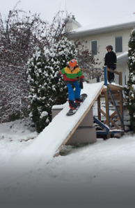 Ski/Snowboard Ramp for Backyard