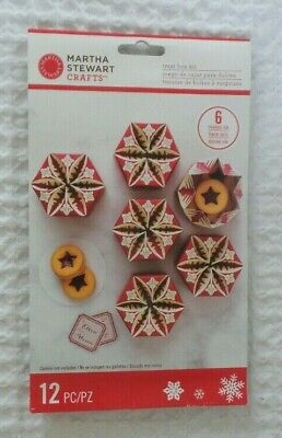 MARTHA STEWART Crafts Christmas TREAT BOX KIT Sealed 6 Boxes Family Project -