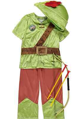 New Boys Disney Robin Hood Fancy Dress Costume Outfit Age 7 - 8 Years