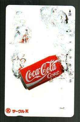 CIRCLE K ( Japan ) Coca-Cola Can in Water Phone Card - RARE
