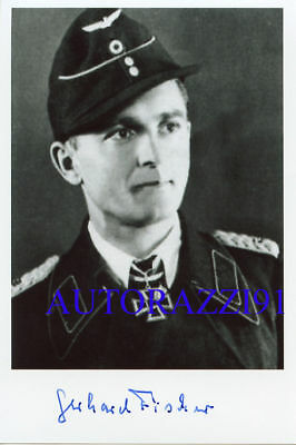 WWII PANZER TANK ACE, G.Fischer Knights Cross Battle of France SIGNED 4x6 PHOTO