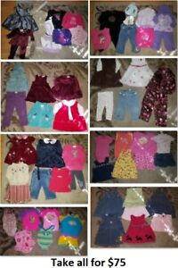 12-18 Mths Baby Girls Clothing Lot 2 (Take 61 Pieces for $75)