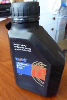 New 500ml bottle Mobil Hydraulic Brake and Clutch fluid.