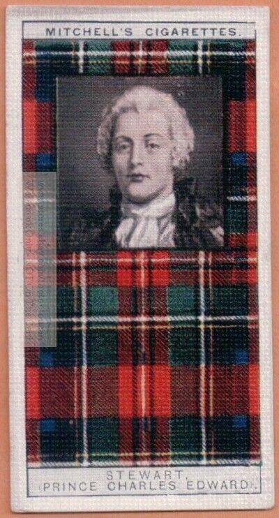 Stewart Family Clan Celtic Tartan Pattern Scotland Kilt c90 Y/O Trade Ad Card