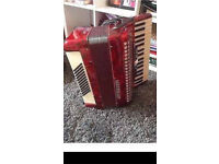 Golden Cup Accordian (72 bass buttons) HOHNER case included