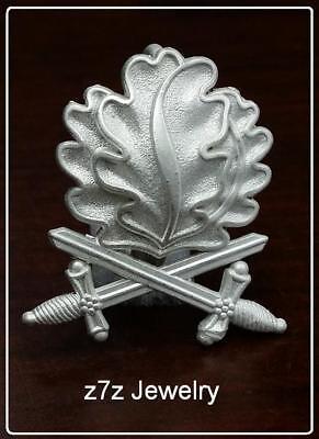 OAK LEAVES w/ SWORDS Lapel Pin - 1 1/2