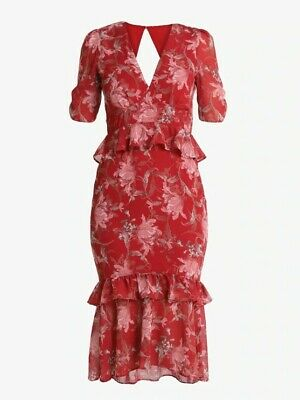 Hope & Ivy Red Midi Dress Size 6, Great Condition