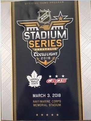 2018 Stadium Series Game Program Nhl Toronto Maple Leafs Vs  Washington Capitals