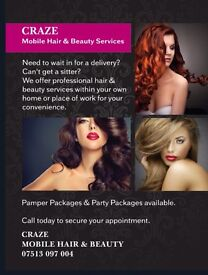 Mobile Hairdresser & Beautician Hair Extensions Lashes Spray Tanning All of London Kent Essex Surrey