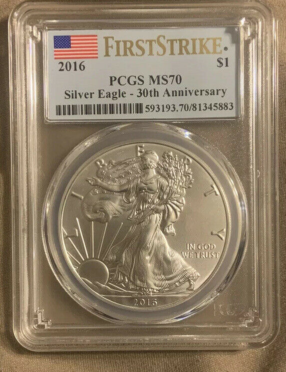 2016 PCGS MS 70 First Strike American Silver Eagle