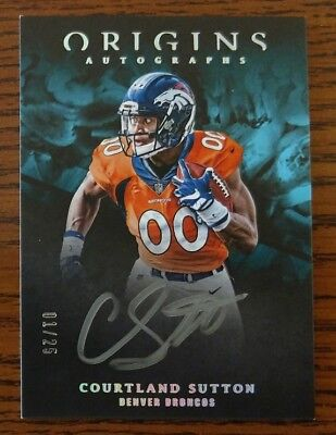 2018 Panini Origins Courtland Sutton Rookie Silver Auto Denver Broncos SP /25