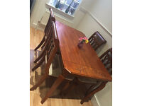Beautiful wood 4 chair dinning table / quick sale / home clearance