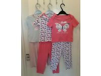 Bundle of 6 short sleeve girls pyjamas aged 2-3 years