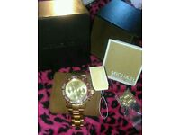 Michael kors ladies watch as new! Pink gold chronograph watch