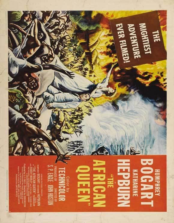 THE AFRICAN QUEEN Movie POSTER 22x28 Humphrey Bogart Katharine Hepburn Robert