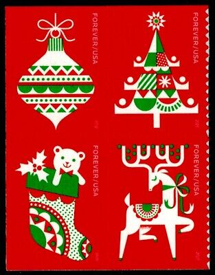 US Scott # 5525-5528 Block Of 4 Stamps MNH, Holiday Delights, Christmas