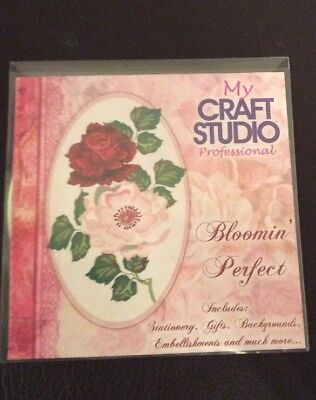 My Craft Studio Professional Bloomin Perfect CD-ROM Floral.  Flowers Crafting