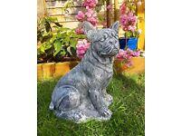 French bulldog stone garden ornament