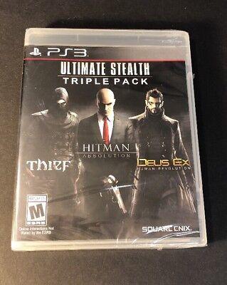 Ultimate Stealth Triple Pack [ Thief + Hitman Absolution + Deus Ex ] (PS3) NEW comprar usado  Enviando para Brazil