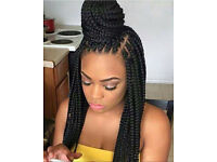 AFRO HAIRDRESSER LEICESTER weave box braids twists dreadlocks MOBILE HAIR EXTENSIONS