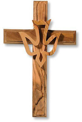 Dove Hanging (Cross with Overlay Holy Spirit Trinity Dove Hanging Wall Decoration, 4.75)